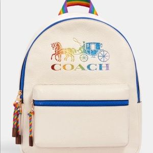 Coach Rainbow Leather Medium Backpack